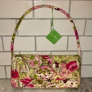 NWT Make Me Blush Vera Bradley Knot Clutch Bag